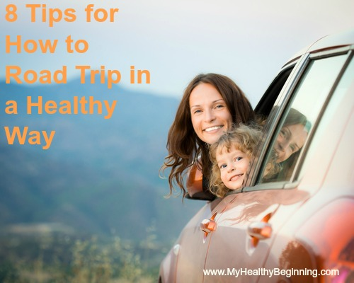 Happy family car trip on summer vacation. Travel concept