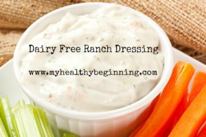 Ranch dressing with fresh carrots and celery